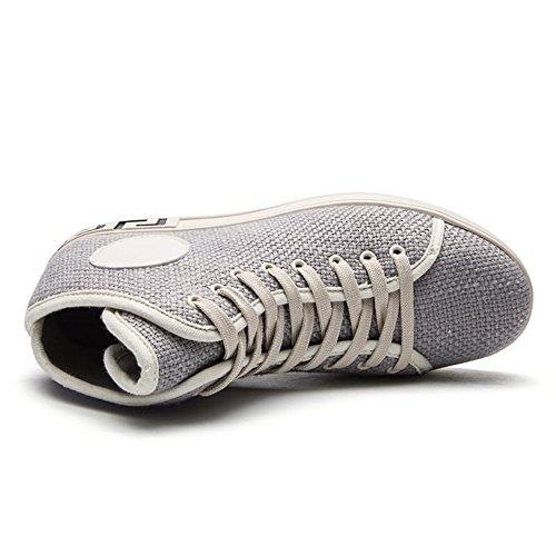Ginnastica Uomo da Grigio Moda Scarpe Tacco con Cricket Piatto da Scarpe Sneaker per vq7w45t