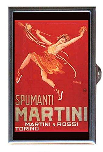 Spumanti Martini Vintage Illustration Decorative Pill Box