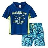 Carter's Little Boys' Toddler Two-Piece Submarine Shark Swim Set (12 months, Surf & Bait)