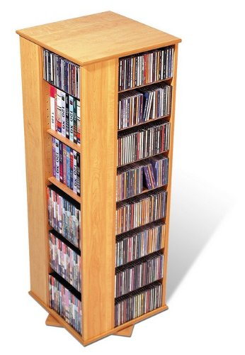 4 Sided Spinner CD / DVD Tower in Maple - Prepac (Prepac Four Sided Spinner)