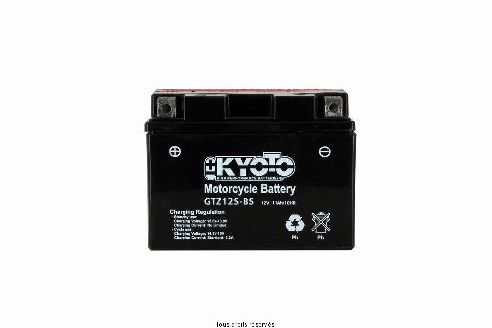 Batterie Moto KYOTO Ytz12s-bs - Ss Entr. AGM L 150mm W 87mm H 110mm 12v 11ah Acide 0.54l 712129