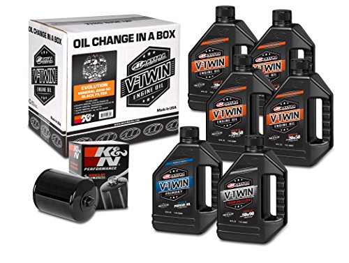 Maxima Racing Oils 90-069016B Evolution Mineral 20W-50 Black Filter Complete Oil Change Kit, 192. Fluid_Ounces ()