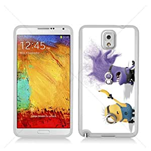 Despicable Me Minions Samsung Galaxy Note 3 III N9005 Soft Black or White case (White)