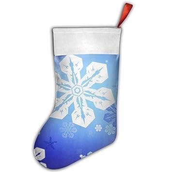 Azul Copo de nieve rojo fieltro Navidad medias calcetines de botas de para colgar Decor Festival Party Ornaments: Amazon.es: Hogar