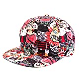 ANDI ROSE Women Vampire Baseball Flat Hats Snapback Hip-Hop Adjustable Cap (Red)