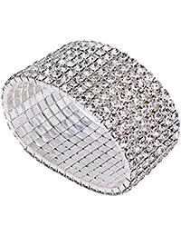 Bridal Rhinestone Stretch Bracelet Silver Tone - Ideal...