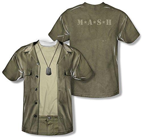 Radar Mash Costume - M.A.S.H. - Hawkeye Costume Tee (Front/Back Print) T-Shirt Size XXL