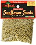 Melissa's Sunflower Seeds Out of Shell 3-Ounce Bags (Pack of 12), Perfect for Healthy Snacking or Lunches, Lightly Salted, Great as Salad Toppers or in Trail Mix