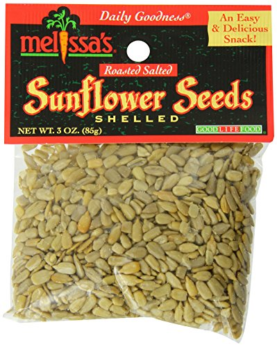 Melissa#039s Sunflower Seeds Out of Shell 3Ounce Bags Pack of 12 Perfect for Healthy Snacking or Lunches Lightly Salted Great as Salad Toppers or in Trail Mix