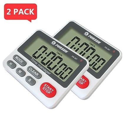 YepLife Reloj digital con cuenta atrás y cuenta atrás de 24 horas. Cronómetro/herramienta