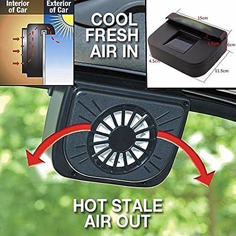 Zooarts - Ventilador refrigerador Auto Vent con energía solar para refrescar el interior del coche; apto para mascotas