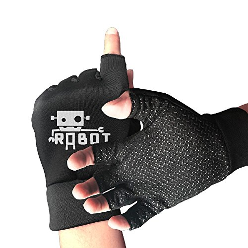 - Kooiico Creative Robot Gym Gloves For Weight Lifting Cross Training Workout Best For Men & Women