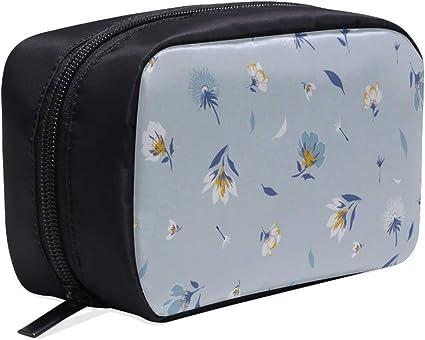 Bolsa de cosméticos Barato con motivos florales botánicos Flor Bolsa de maquillaje para niños Bolsa de viaje para mujer Bolsa de viaje de lona para hombre Bolsas de cosméticos Bolsas de cosm: