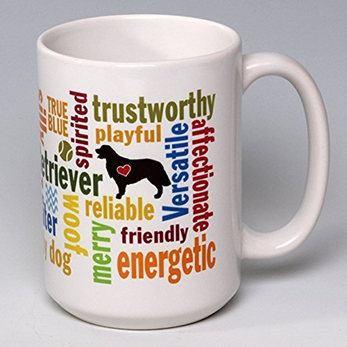 15 oz. Personalize this Ceramic Golden Retriever Coffee/Tea Mug ~ perfect for a dog or pet lover ~ can be ()