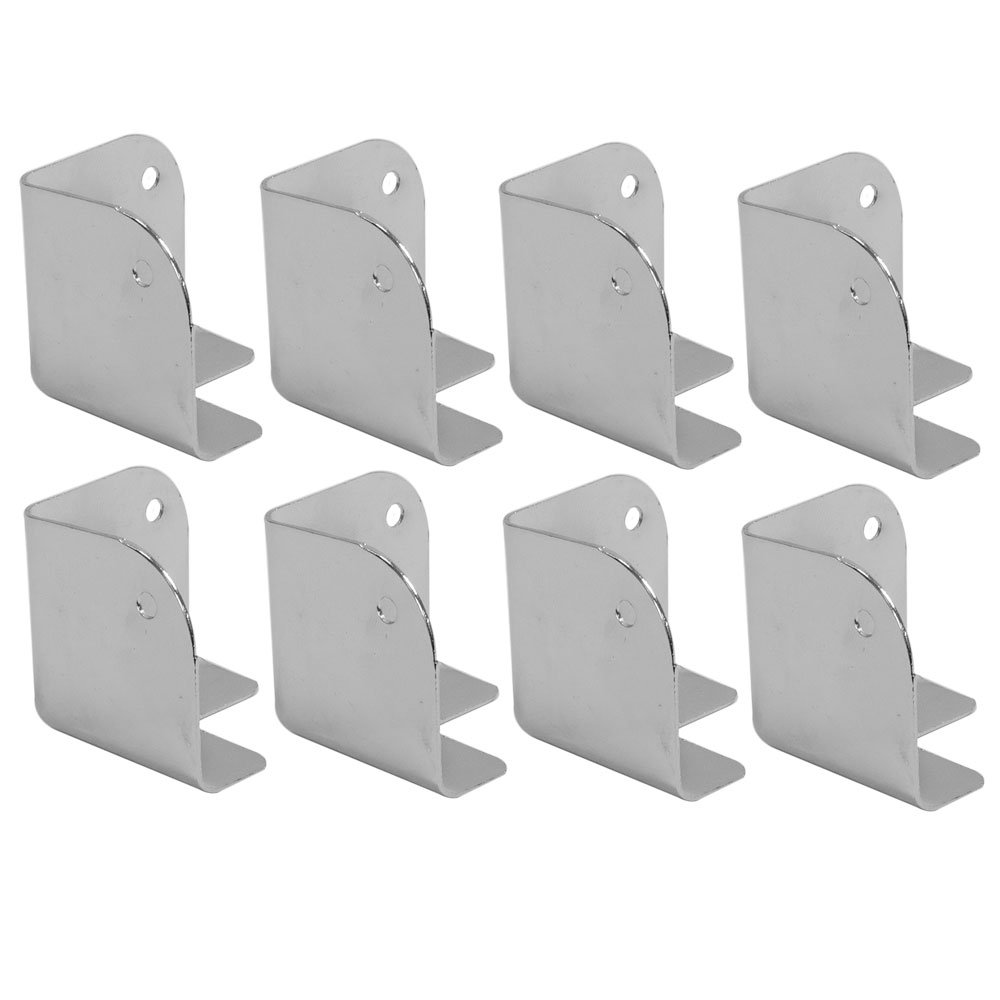 Seismic Audio SACR914-8Pack of Silver Metal Corners for Front of PA/DJ Speaker Cabinets by Seismic Audio