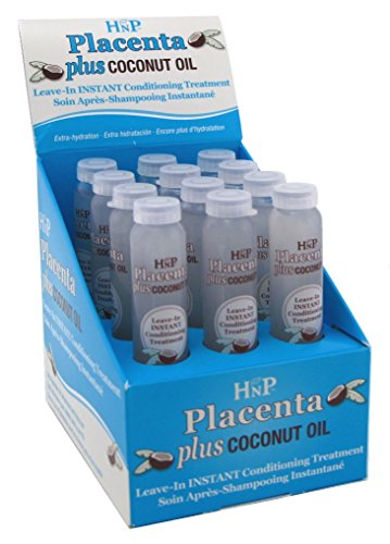 Hask Hnp Vials Placenta Plus 0.625 Ounce Coconut Oil (12 Pieces) (19ml)