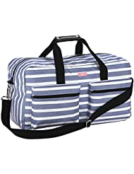 SCOUT Duffy Large Travel Duffle Bag, Ample Pockets, Adjustable Strap, Water Resistant, Zips Closed