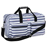 SCOUT Duffy Large Travel Duffle Bag, Ample Pockets, Adjustable Strap, Water Resistant, Zips Closed, Oxford Blues