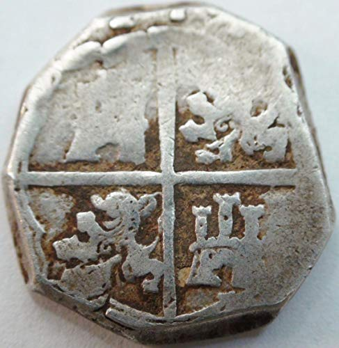 ES 1600's AD Spanish Silver Antique Coin 2 Reales ()