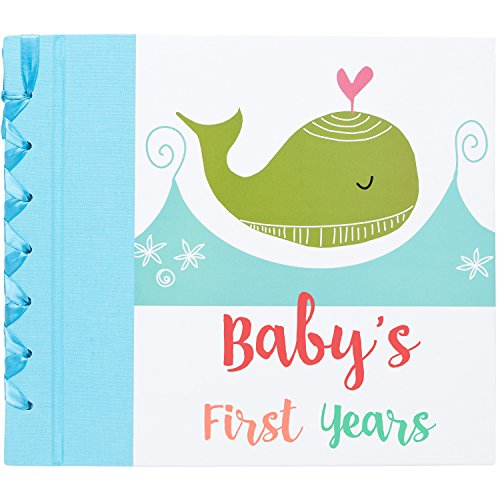 Baby First Year Memory Book - 52 Whimsical, Colorful Keepsake Pages for Boy & Girl - Baby's First Moments, 12 Month Milestones, 5 Birthdays, Holidays, 13 Blank Photo Album ~ Perfect Gifts for Moms