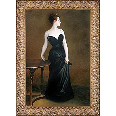 overstockArt JS3163-FR-932824X36 Portrait of Madame X by John Singer Sargent Framed Hand Painted Oil on Canvas, Not Applicable