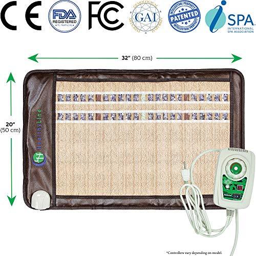 HealthyLine Far Infrared Heating Pad - Natural Amethyst Jade Tourmaline Crystals - Soft Mat Medium 3220 InfraMat Pro®
