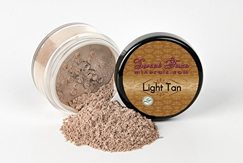 LIGHT TAN FOUNDATION Sample to Bulk Sizes Mineral Makeup Matte Jar Bare Face Powder Sheer Natural Cover (5 Gram Sample Jar)