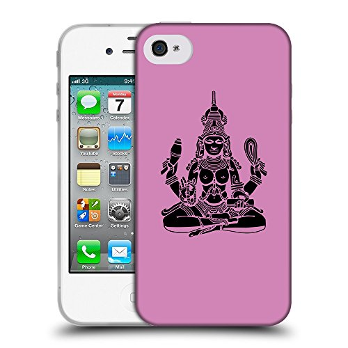 GoGoMobile Coque de Protection TPU Silicone Case pour // Q08130618 Hindou 4 Bronze // Apple iPhone 4 4S 4G