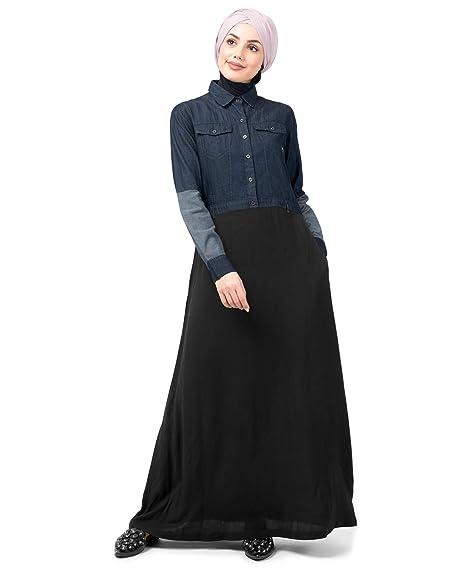 5bf72124a7 Silk Route Mid Waist Skirt Denim Shirt Urban Abaya Maxi Dress Jilbab Small  52
