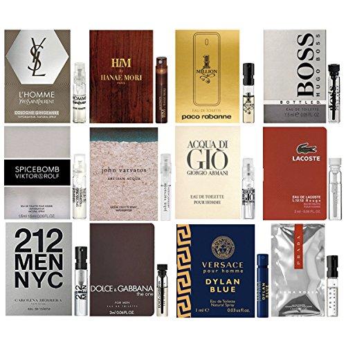 Lot of 12 Vial Samples - Men's Fragrance Cologne - Pour Ysl Cologne Homme