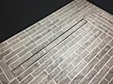 Linear Shower Drain with Tile insert Grate, 36-Inch, Brushed 304 Stainless Steel, With WATERMARK&CUPC Certified, Includes Adjustable leveling feet, Hair Strainer