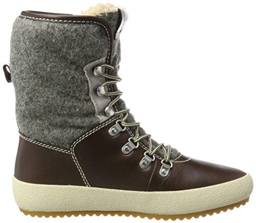 Gant Ladies Amy Snow Boots Brown (marrone Scuro / Grigio)