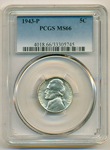 1943 P Jefferson Silver Nickel MS66 PCGS
