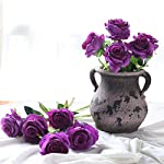 JUSTOYOU-10pcs-Artificial-Rose-Silk-Flower-Blossom-Bridal-Bouquet-for-Home-Wedding-DecorPurple