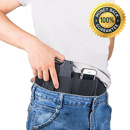 Purchase Belly Band Holster for Concealed Carry,Neoprene Waist Band Handgun Carrying System,Fits Gun...