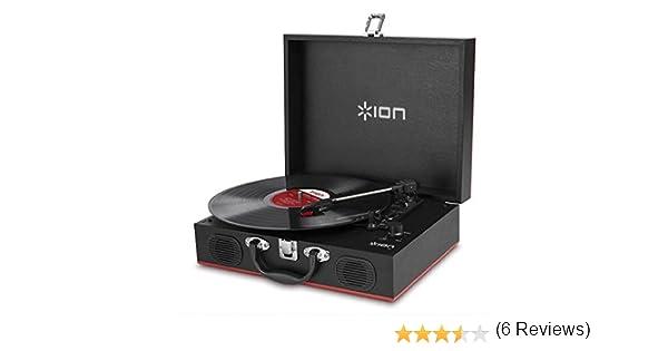 ION Audio Vinyl Transport - Tocadiscos portátil (maletín y ...