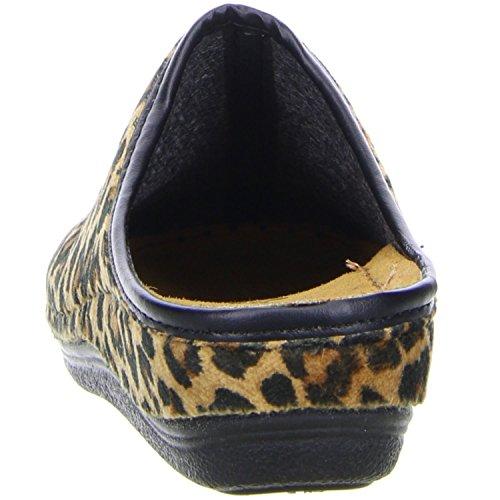 inblu Damen Hausschuhe Leopardenoptik mehrfarbig Mehrfarbig