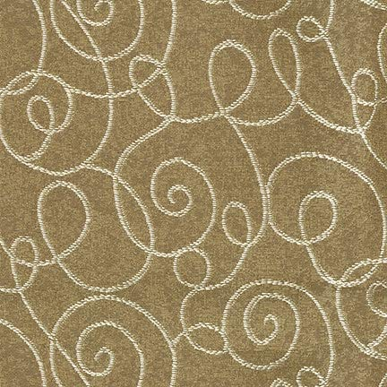 (Milkweed Brown Circles Contemporary Large Scale Lattice Scroll Traditional Woven Jacquards Upholstery Fabric by the yard)
