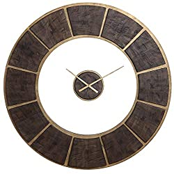 AR Lighting Kerensa Wooden Wall Clock