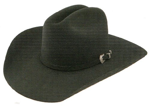 Resistol Men's Squared Challenger 5X Fur Felt Cowboy Hat Black 7 3/8 ()