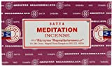 Satya Incense Sticks Meditation Incense Sticks 12 x 15 grams 180Grams