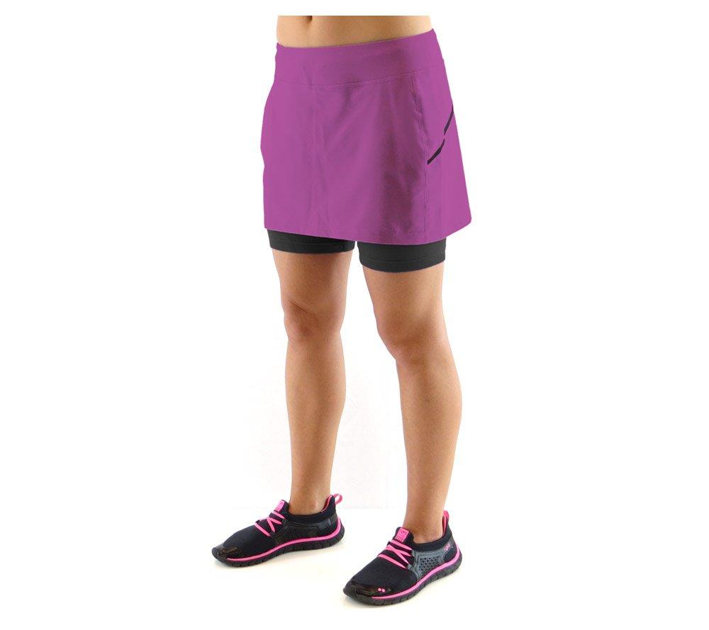 Amazon.com : Ryka Apparel Women's Pursuit Running Skirt, Sugar Plum, 2X- Large : Athletic Skirts : Sports & Outdoors