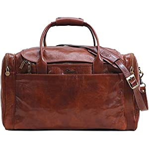 Floto Leather Cargo Duffle Bag Carry On Travel Bag 4