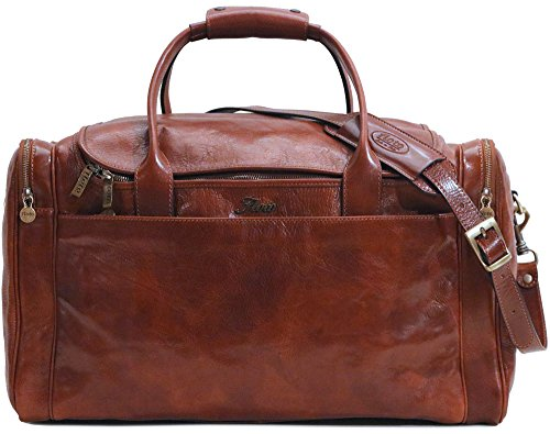 Floto Leather Cargo Duffle Bag Carryon Travel Bag Large (Leather Torino Duffle Bag)