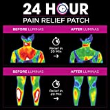 LUMINAS Pain Relief Patches (24 Pack) Up to 24 Hours of Pain Relief for: Joints, Back, Hip, Neck, Headache, Shoulder, Knee, Menstrual Cramps, Muscles, Tendon, Foot, and Other Common Aches and Pains.