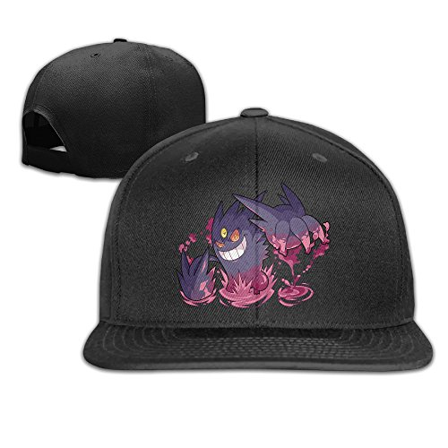 Unisex Pokemon Go Gastly Haunter Gengar Baseball Flat Caps Adjustable Black