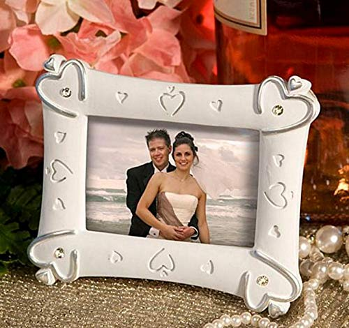 Party Diy Decorations - 100pcs Lot Decoration Romantic Resin Love Heart Photo Frame Place Card Holder Favors Sn1870 - Plant Vintage Wall Holder Number Thank Gold Table Foto Photo