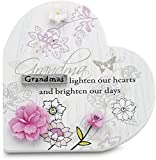 Mark My Words Self Standing Heart Plaque with Grandma Saying, 3-1/4 by 3-1/4-Inch