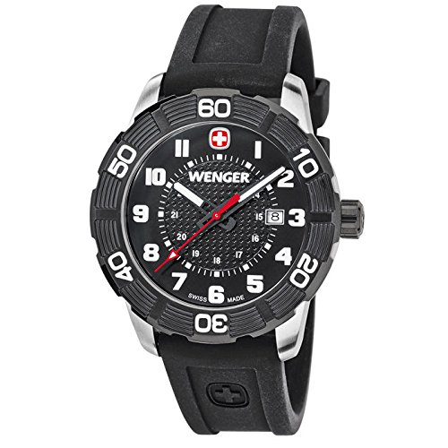 Wenger-Roadster-Stainless-Steel-Watch-with-Silicone-Strap