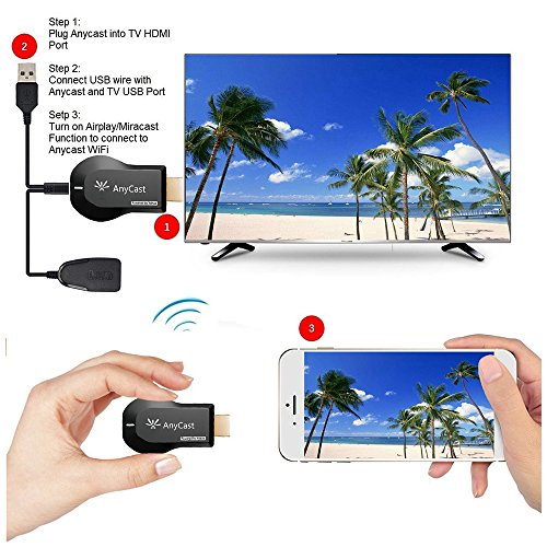 Superwang Wifi Display Dongle, Full HD 1080P WiFi Wireless Display Receiver Dongle HDMI TV Mini DLNA Airplay Airmirroring for Android,IOS, HDTV Smart Phones Notebook Tablet PC by Superwang (Image #4)